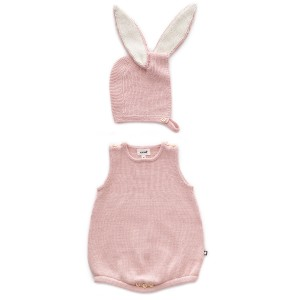 Oeuf Bunny Set in Light Pink