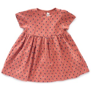 Oeuf Short Sleeve Dress in Rust