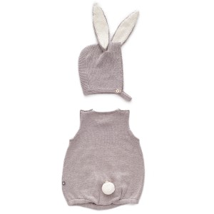 Oeuf Bunny Set in Light Grey