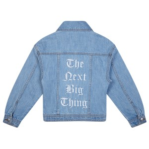 Its In My Jeans East Denim Jacket with 'The Next Big Thing' Embroidered on back