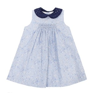 Dondolo Cotton Avery Dress in Blue Floral