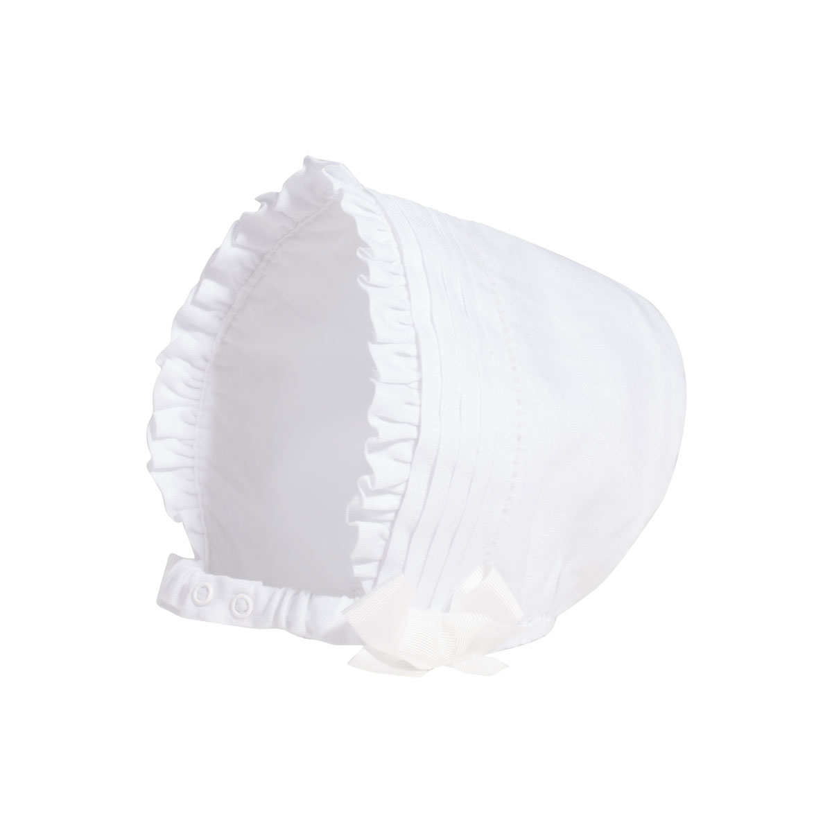 Patachou White Cotton Bonnet