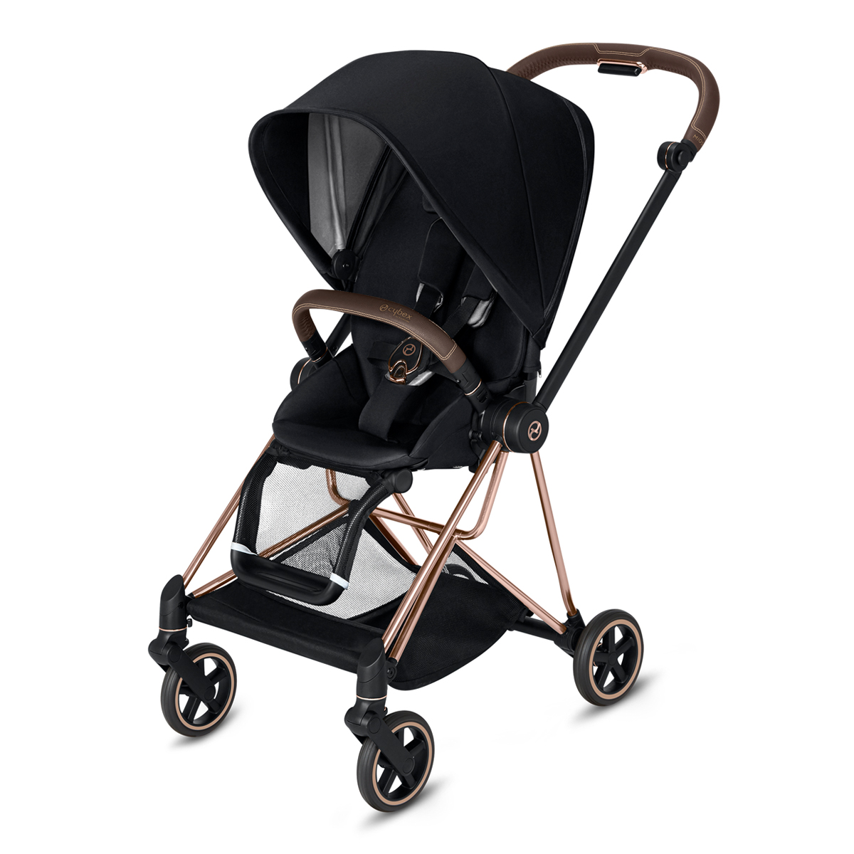 CYBEX 2019 MIOS Rose Gold Frame in Premium Black