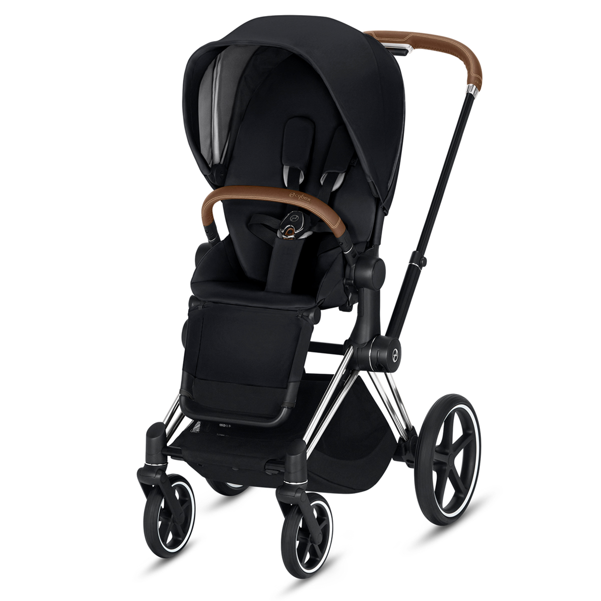CYBEX 2019 PRIAM Chrome w/ brown Frame in Premium Black
