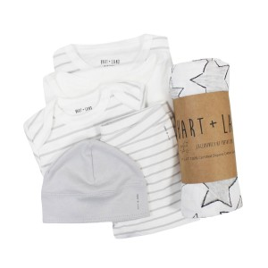 Hart & Land Unisex 6 piece gift set in Micro Chip Grey