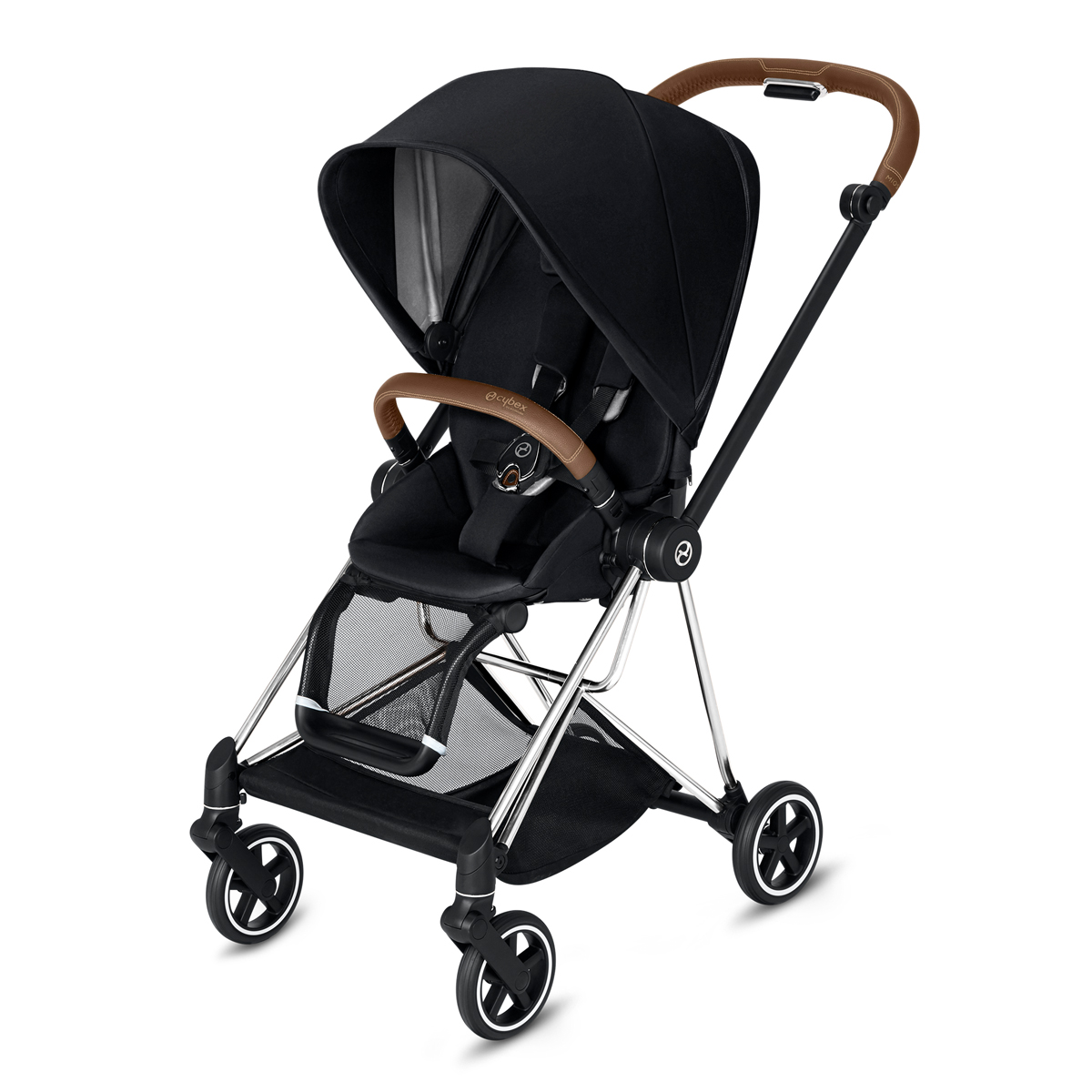 CYBEX 2019 MIOS Chrome w/ Brown Frame in Premium Black