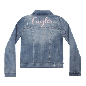Levi's Kid's Denim Jacket with personalized embroidery in Font 8
