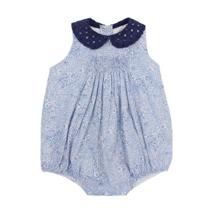 Dondolo Sleeveless Cotton Avery Bubble in Blue Floral