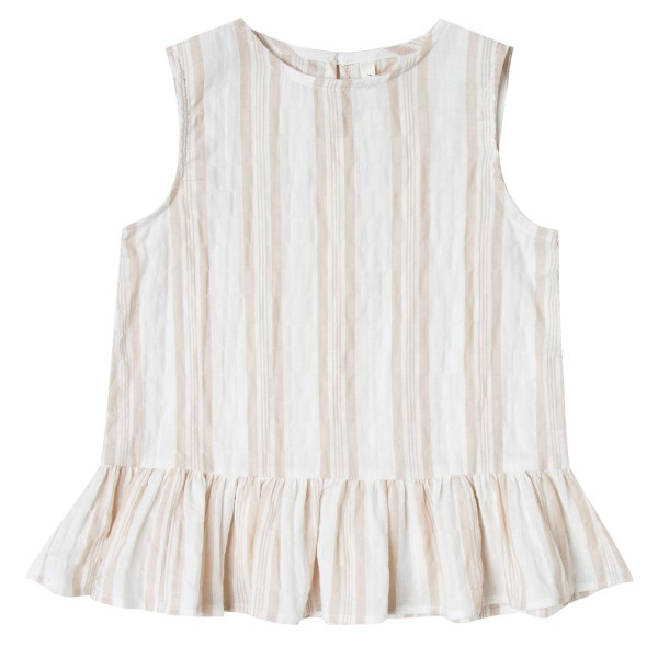 Rylee+CruSS19StripeCarrieBlouseSandStripeLS1