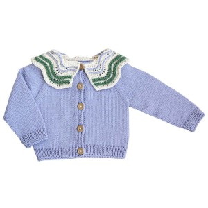 Kalinka Knit Butterfly Cardigan in Lilac