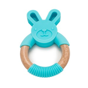 Loulou Lollipop Wooden Silicone Teething Ring