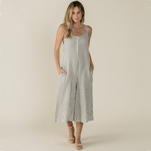 Ryle+Cru SS19 Womens Stripes Bridgette Jumpsuit