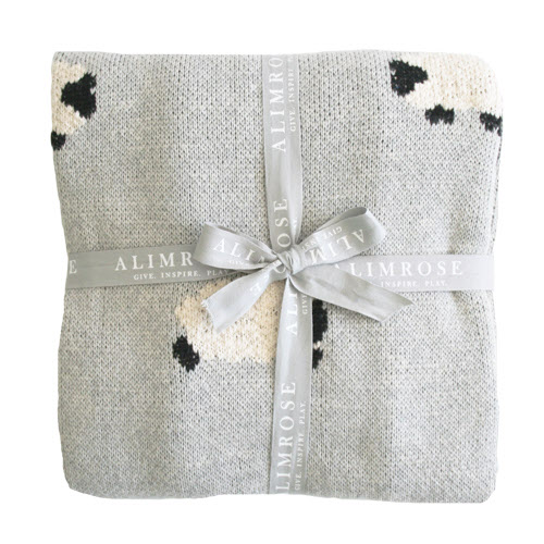 Alimrose SS19 Organic Cotton Knit BaBa Blanket grey