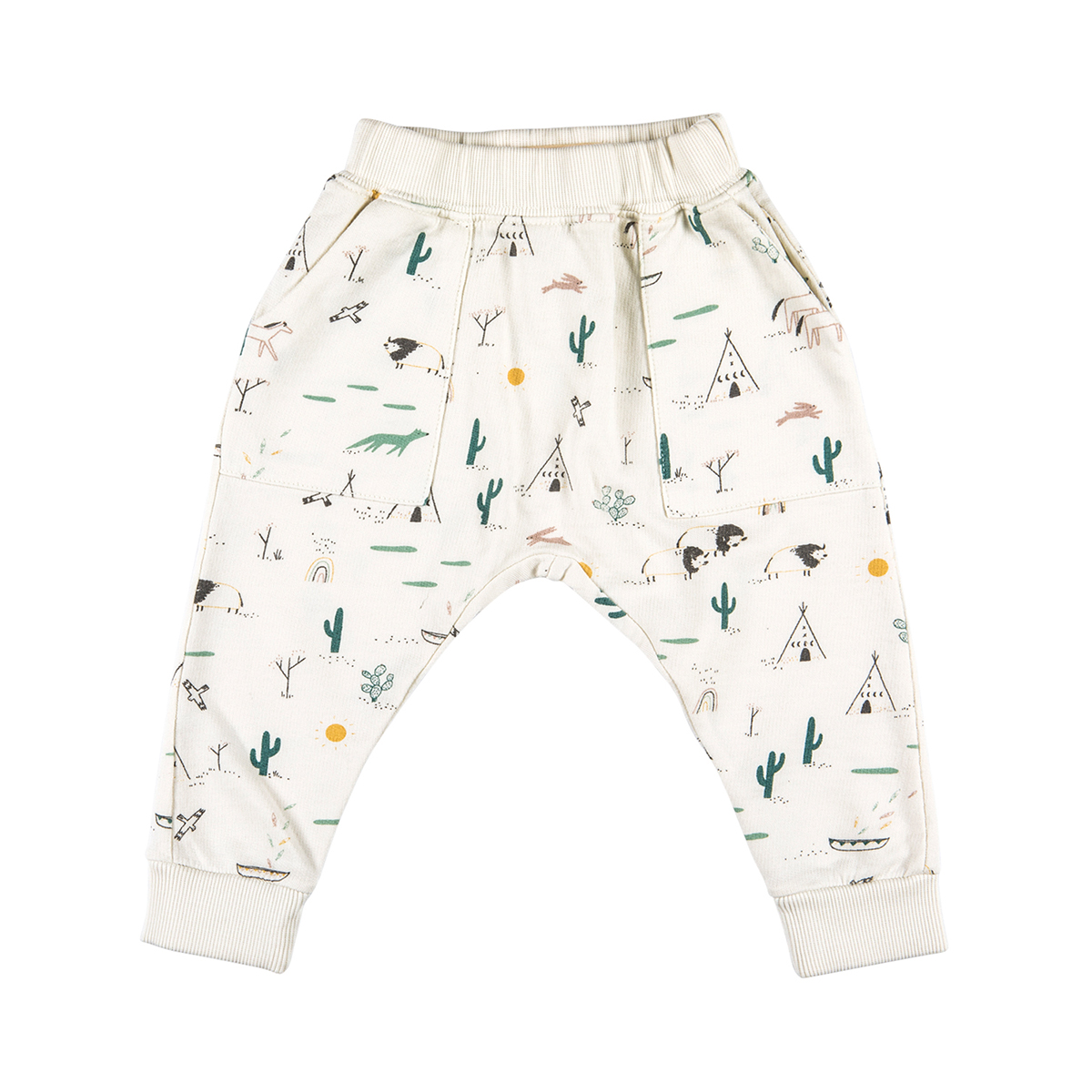 Red Caribou French Terry Pant in Ivory