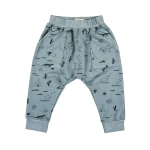 Red Caribou French Terry Pant in Lead