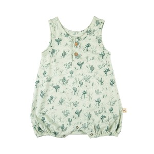 Red Caribou Jersey Romper in Cacti Garden