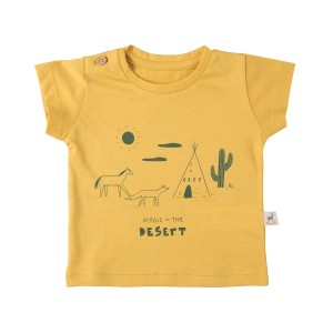 Red Caribou Magic in the Desert Yellow T-Shirt