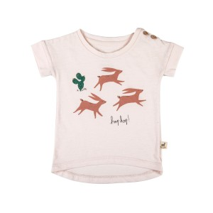 Red Caribou Teardrop T-Shirt in Hop Hop Blush