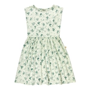 Red Caribou Cacti Dress in Green Lilly
