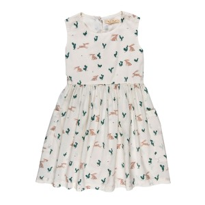 Red Caribou Pockets Dress in Prickly Rabbit