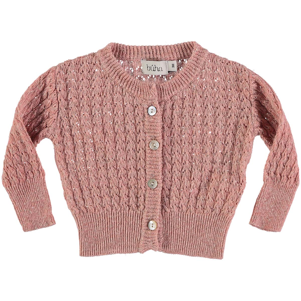 Buho Baby Amelie Cardigan in Rose