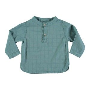 Buho Voile Shirt in Mint Check