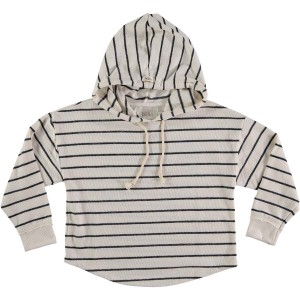 Buho Willy Hooded Sweater in Navy Stripes