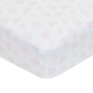 Lewis Home Crib Sheet in Rose Hip Blush