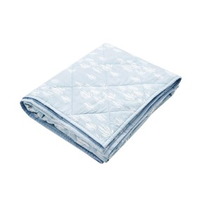 Lewis Home Quilted Baby Blanket in Inverse Seaweed Bay Blue