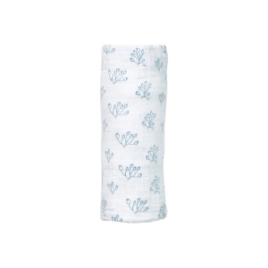 Lewis Home Swaddle in Bay Blue Rose Hip