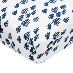 Lewis Home Crib Sheet Seaweed-Denim
