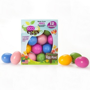 Eco Eggs Compostable Easter Eggs 12 count