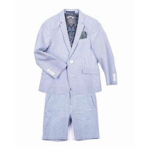 AppamanSS19 Suit Short Bengal Stripe Blue