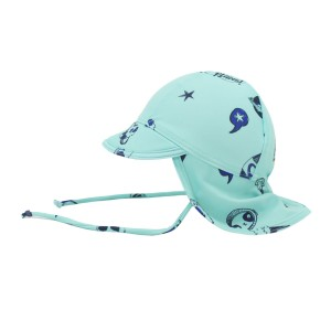 Soft Gallery Baby Sunhat in Aqua Space Swim