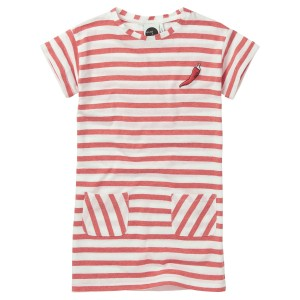 Sproet & Sprout T-Shirt Dress in Red Stripe