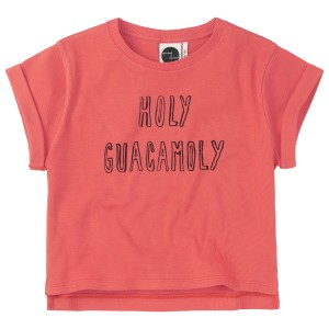 Sproet & Sprout Boxy T-Shirt in Holy Guacamoly Red
