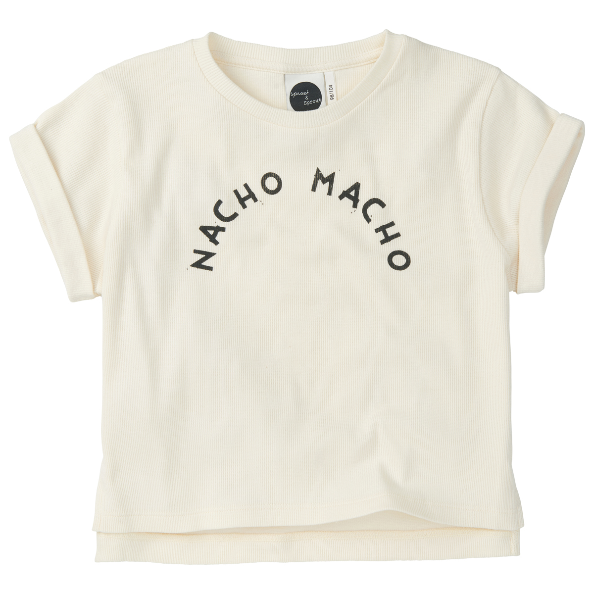 Sproet & Sprout Boxy T-Shirt in Nacho Macho White