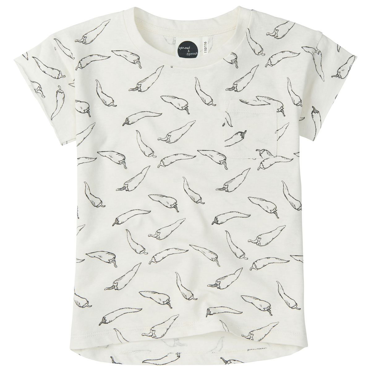 Sproet & Sprout T-Shirt in White Peppers