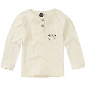 Sproet & Sprout Long Sleeve Shirt in White with Hola Print
