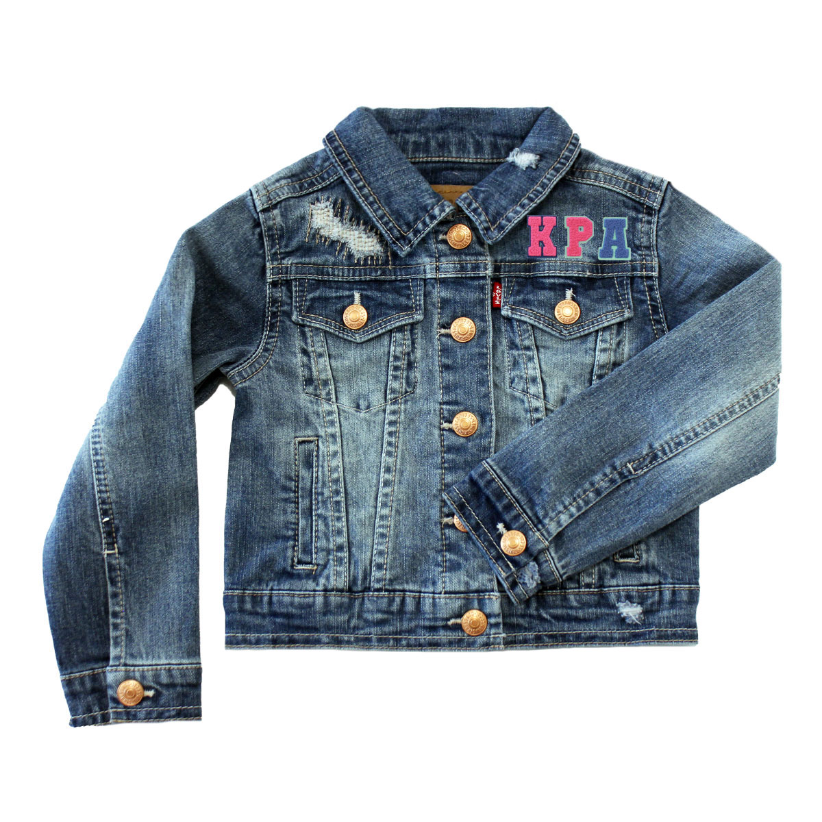 Levi's personalized initials denim trucker jacket