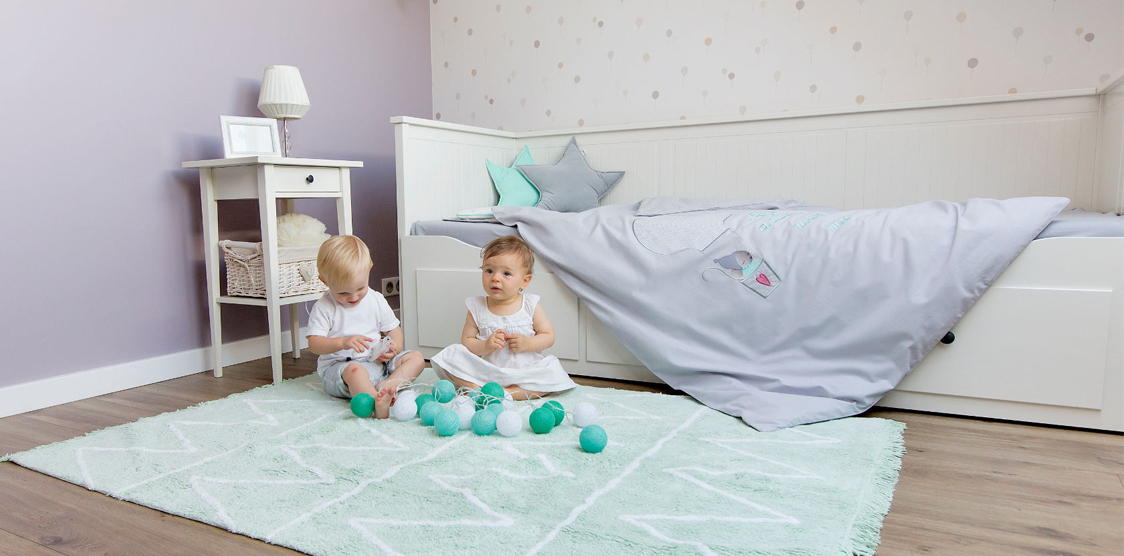 shared baby toddler room