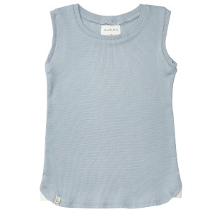 Bacabuche SS19 Tank Top Ribbed Blue Grey