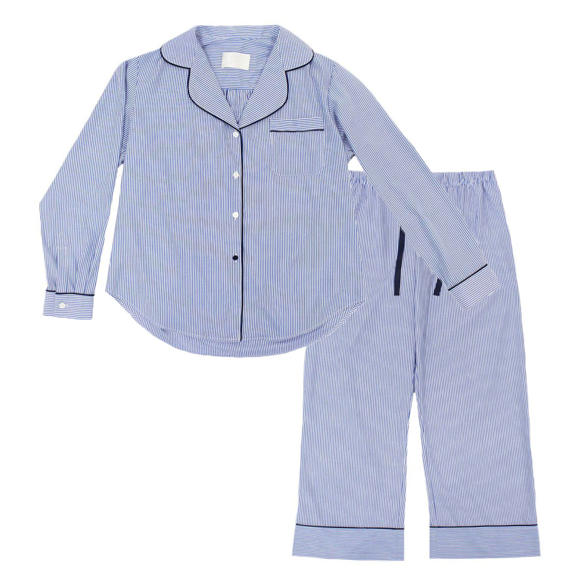 PIU Kid's Pajama Set in Blue Stripe