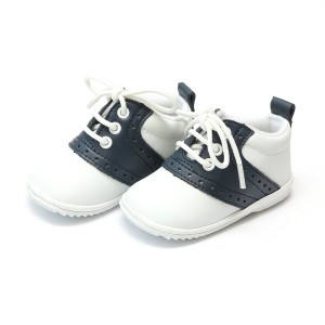 L'Amour Austin Oxford Shoes in White & Navy
