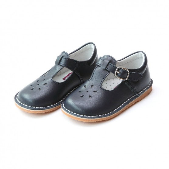 L'Amour Joy Stitch Down Mary Jane Shoes in Navy