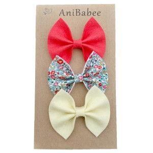 AniBabee Bows Buttery Set of Three