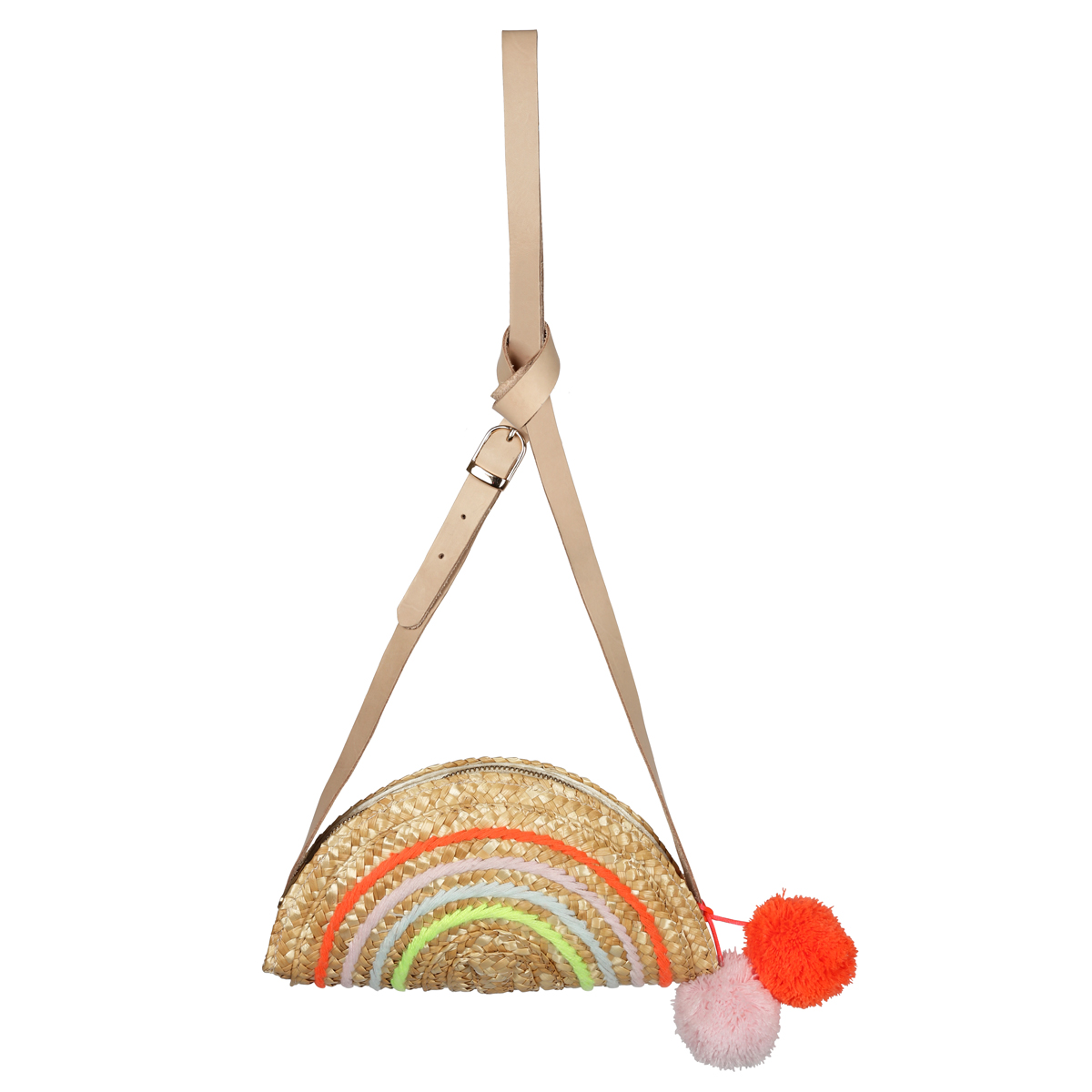 Meri Meri SS19 Rainbow Straw Bag