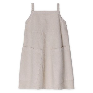 Go Gently Nation Apron Dress in Sandstone