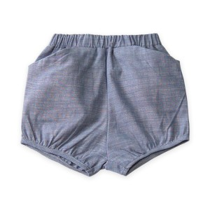 Go Gently Nation Woven Short in Chambray