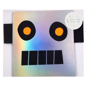 Meri Meri SS19 Robot Stickers Sketch Book